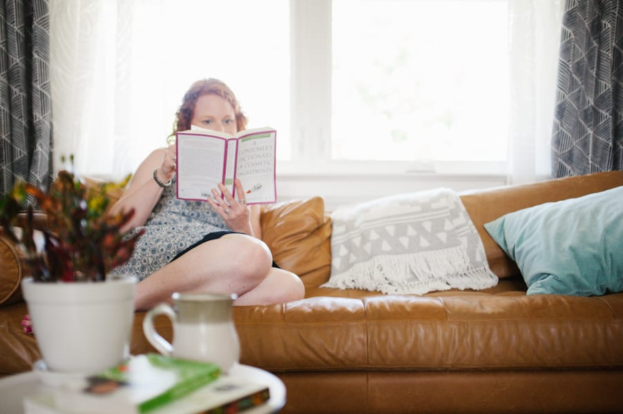 myths about environmental toxins emma reading on couch