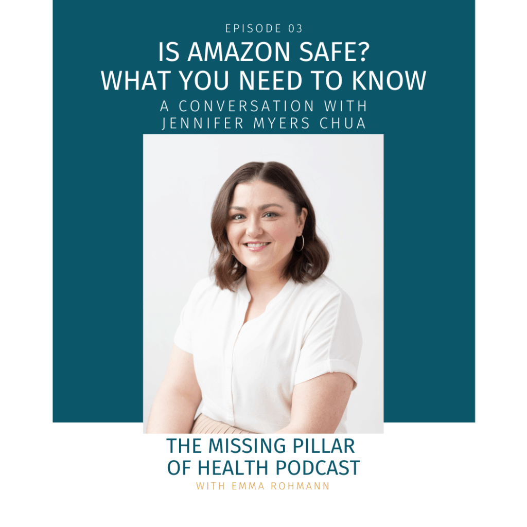 Ep03 Is Amazon Safe Cover Image with Jennifer Chua headshot