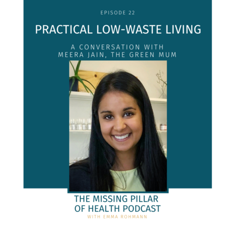 Low-Waste Living Cover Image with Meera Jain headshot